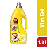 Vim Dishwash Gel, Lemon, 1.8 L