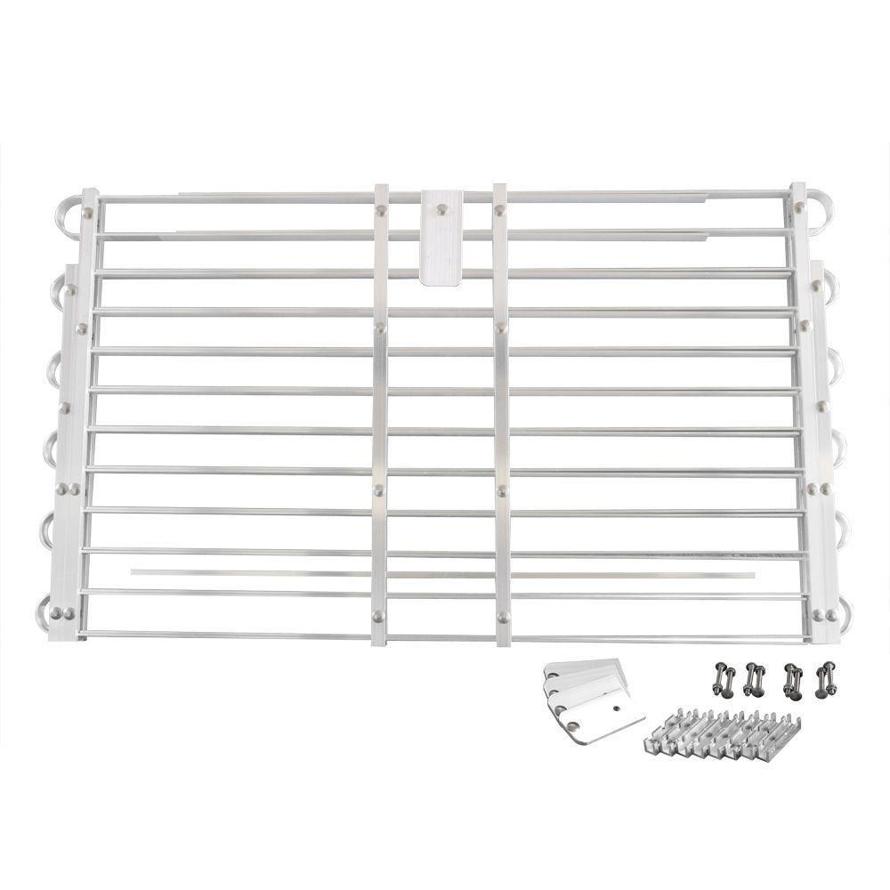 22 - 25 in. x 60 - 66 in. Adjustable Aluminum Window Well Grate