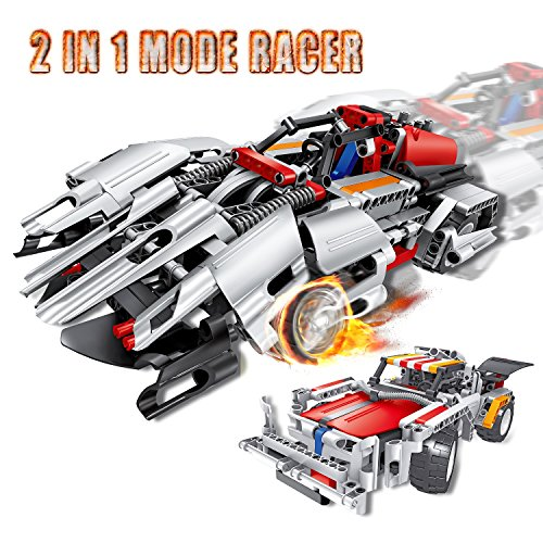 Engineering Toys, STEM Learning Kits, Educational Construction Robot RC Racer Building Set for 7, 8 and 9 Year Old Boy-Presents Ideas for Kids Age (Presents For 5 Year Old Boy)