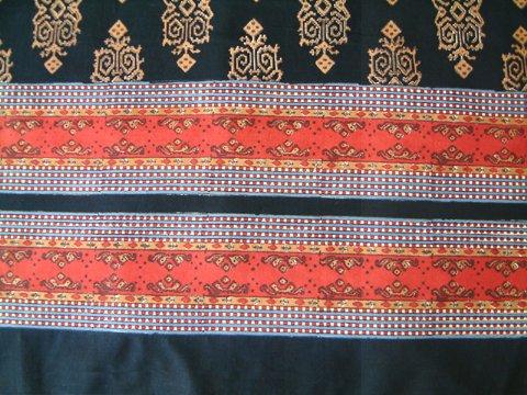Kilim Noir ~ Exotic Designer Black Gold Luxury Twin Bedspread 70x90