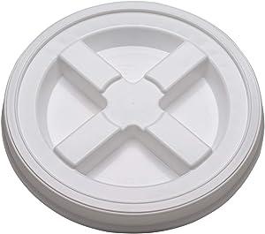(3) White Gamma Seal Lids - Brand New
