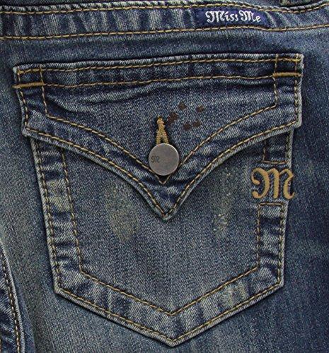Miss Me Women's Basic Flap Pocket Boot Cut Denim Jean, MK, 31