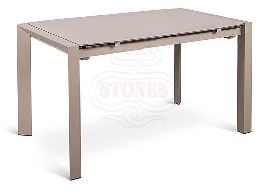 Stones - Mesa Extensible módem Om/158 - Acabado Color Base Blanca ...
