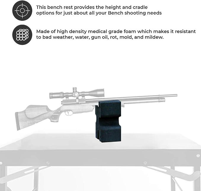 Rest fits standard accessory rail Anschutz etc Wooden Benchrest Shooting Block