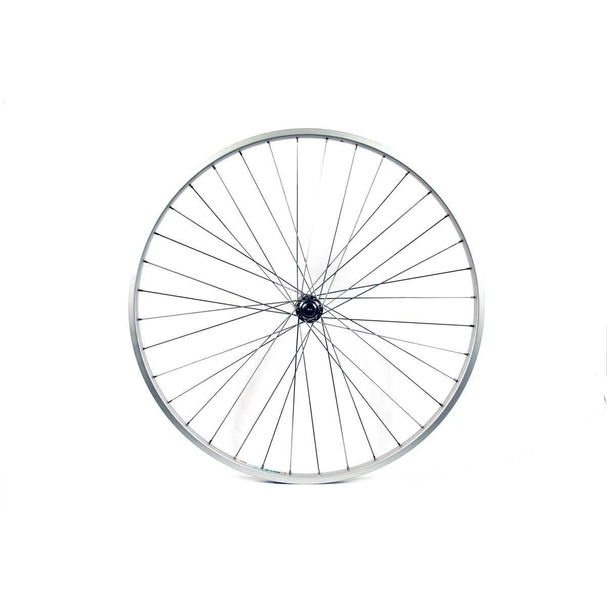 Silver Spokes Silver Solid AX-Largee Hub 27 x 1//1//4 Inches Wilkinson 2714FSW Front Wheel 36 Hole Single Wall Rim