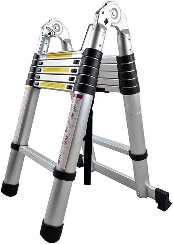 Teleskopleiter ausziehbare Leiter Aluleiter Ausziehleiter Anlegeleiter aus hochwertigem Alu Teleskop-Design 150 kg Belastbarkeit 3m