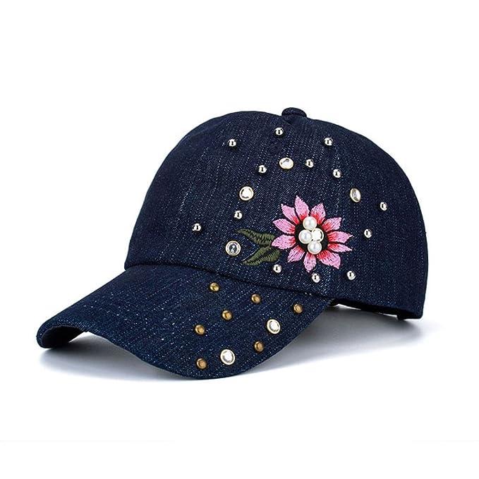 FORH Damen Modisch Kappen Chic Stickerei Blumenmuster Caps super ...