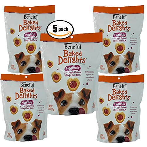 BENEFUL DOG TREATS BAKED DELIGHTS HEARTFULS, 8.5 oz (Pack of 5)