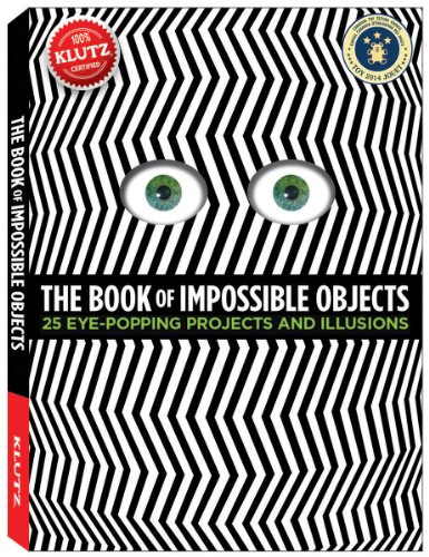 Klutz The Book of Impossible Objects: 25 Eye-Popping Projects to Make, See & Do Craft Kit by Klutz