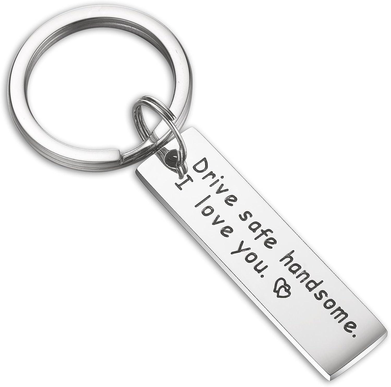 Drive Safe MY LOVE Keychain Couples Boyfriend Girlfriend Husband Wife Dad Gifts