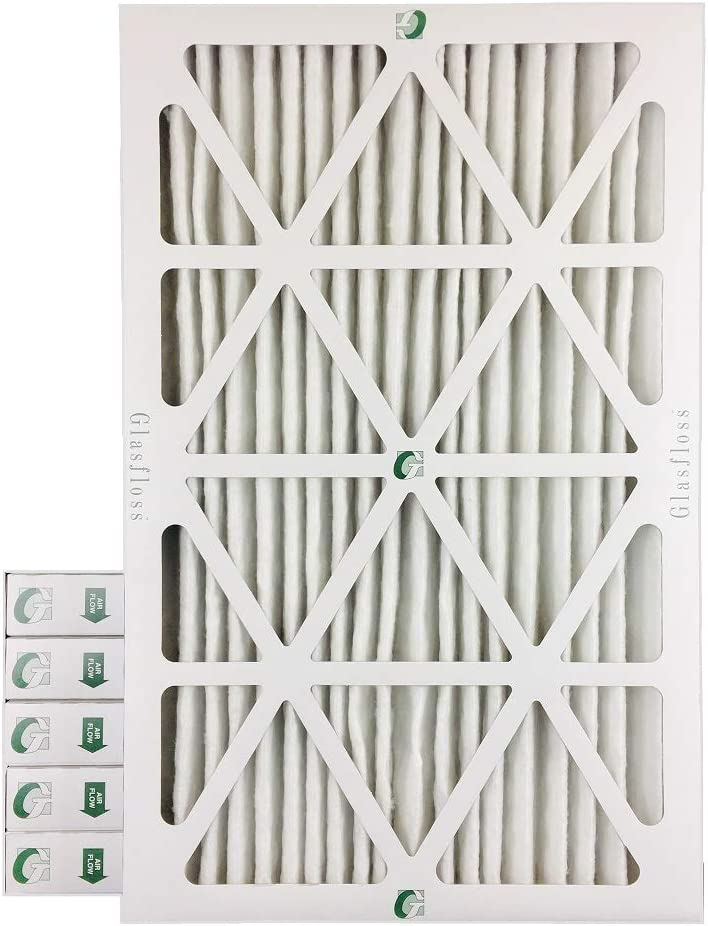 Actual Size 15-1//2 x 24-1//2 x 1-3//4 16x25x2 MERV 10 AC /& Furnace 2 Depth Air Filters Box of 6
