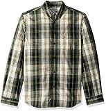 Carhartt Men's M Essential Plaid Button Down Long Sleeve Shirt, elm, X-Large