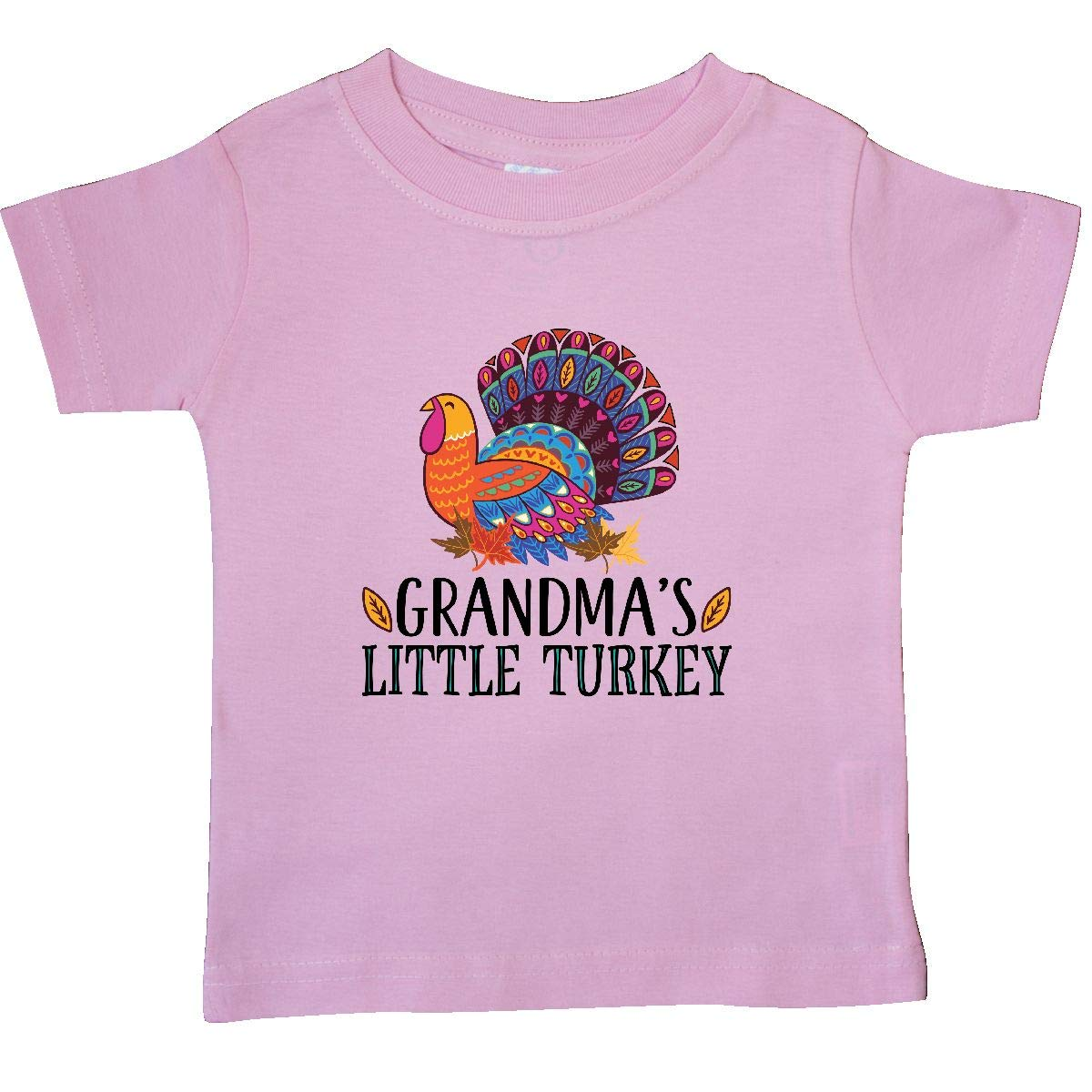 inktastic Grandma Little Turkey Thanksgiving Baby T-Shirt