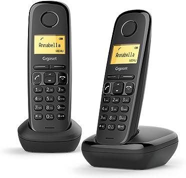 Gigaset A170 Duo Téléphone fixe Sans Fil DECT/Gap Noir: Amazon.es: Electrónica