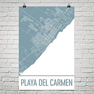 Modern Map Art Carte de Playa del Carmen, art de Playa del Carmen 12 «X 18»
