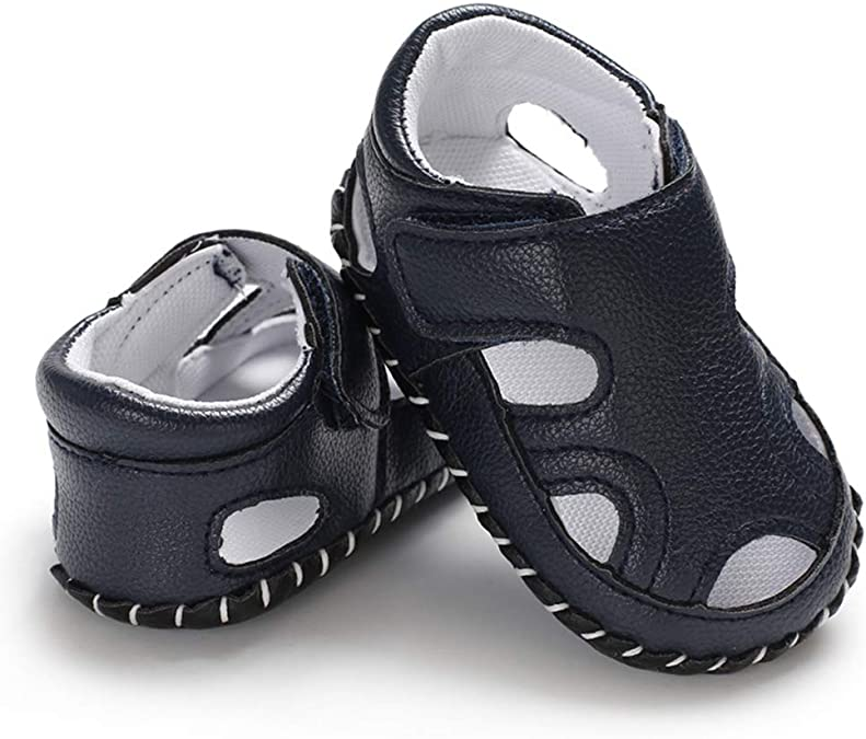Ete Sandale Garcon Semelle Souple Antid/érapant Confort Chaussures Premiers Pas Garcon 0-18 Mois Miyanuby Chaussures B/éb/é Gar/çon