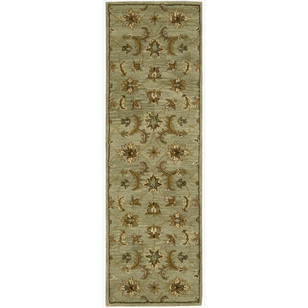 Nourison India House (IH83) Light Green Runner Area Rug, 2-Feet 3-Inches by 7-Feet 6-Inches (2'3'' x 7'6'')