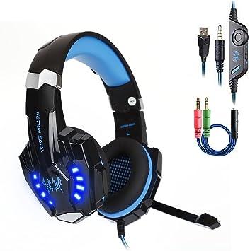 Daping Auriculares PS4 Cascos Gaming con Micrófono Auriculare ...