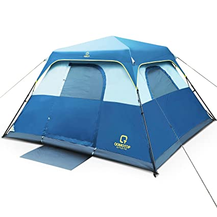 more photos d6958 abb1b QOMOTOP Instant Fast 60 Seconds Easy Set Up,4/6 People Cabin Tent,Camping  Tent,Provide Top Rainfly,Waterproof Tent Advanced Venting Design, with ...