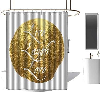 Fabric Shower Curtain Religious Inspirational Message Bathroom Accessories Cross