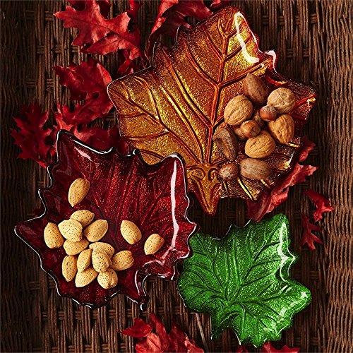 Fall Leaves Fall Leaf Plates-Shallow Serving Bowls Set of 3 Lg Md Sm