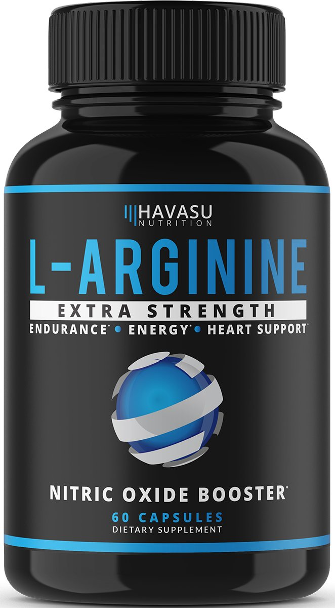 Havasu Nutrition Extra Strength L Arginine - 1200mg Nitric Oxide Supplement for Muscle Growth, Vascularity and Energy - L-Citrulline & Essential Amino Acids to Support Physical Endurance, 60 Capsules by Havasu Nutrition