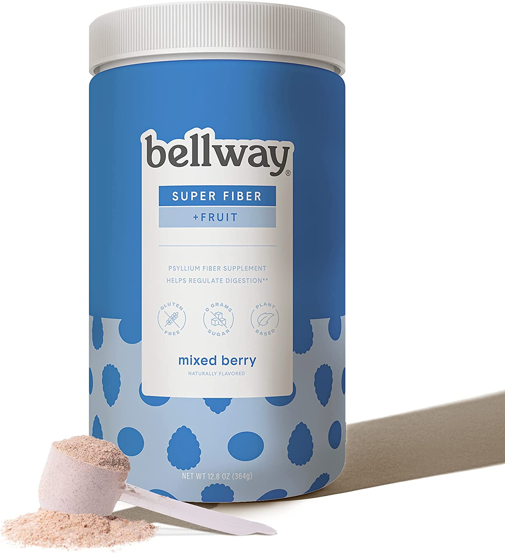 Bellway Sugar-Free Psyllium Husk Fiber Supplement, Mixed Berry, 13.8 oz.