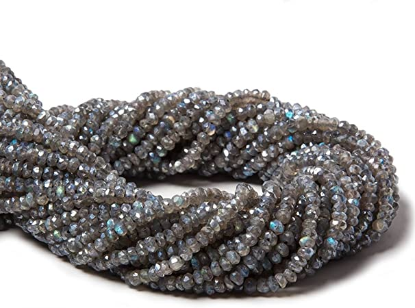 neckalce of 13 strands Multi Mystic Quartz Rondelle Micro Faceted Beads 3-3.50 mm approx size 13 inch strand
