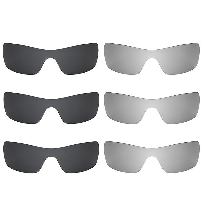 Revant Combo de 6 pares de lentes polarizados, de reemplazo, para Oakley Batwolf K028