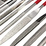 10pcs Emery Rasp Diamond Files Ceramic Knife 5X180X70mm