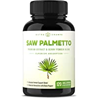 Saw Palmetto Supplement for Prostate Health [Extra Strength] 600mg Complex with...