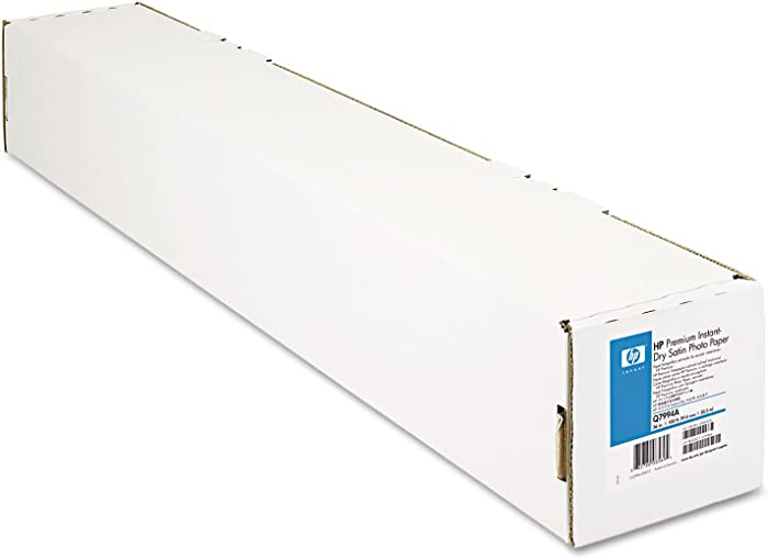 HP Q7994A Instant-Dry Photo Paper, Premium, 36-Inch x100-Ft, 10.3mil, Satin