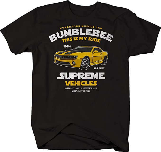Bumblebee This Is My Ride Mens Transformers Vest Camaro Autobots