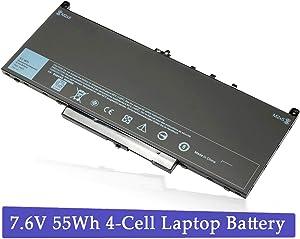 J60J5 Laptop Battery for Dell Latitude E7270 E7470 Series 451-BBSY 451-BBSX 451-BBSU ; P/N:WYWJ2 MC34Y 0MC34Y 1W2Y2 242WD Notebook 7.6V 55WH