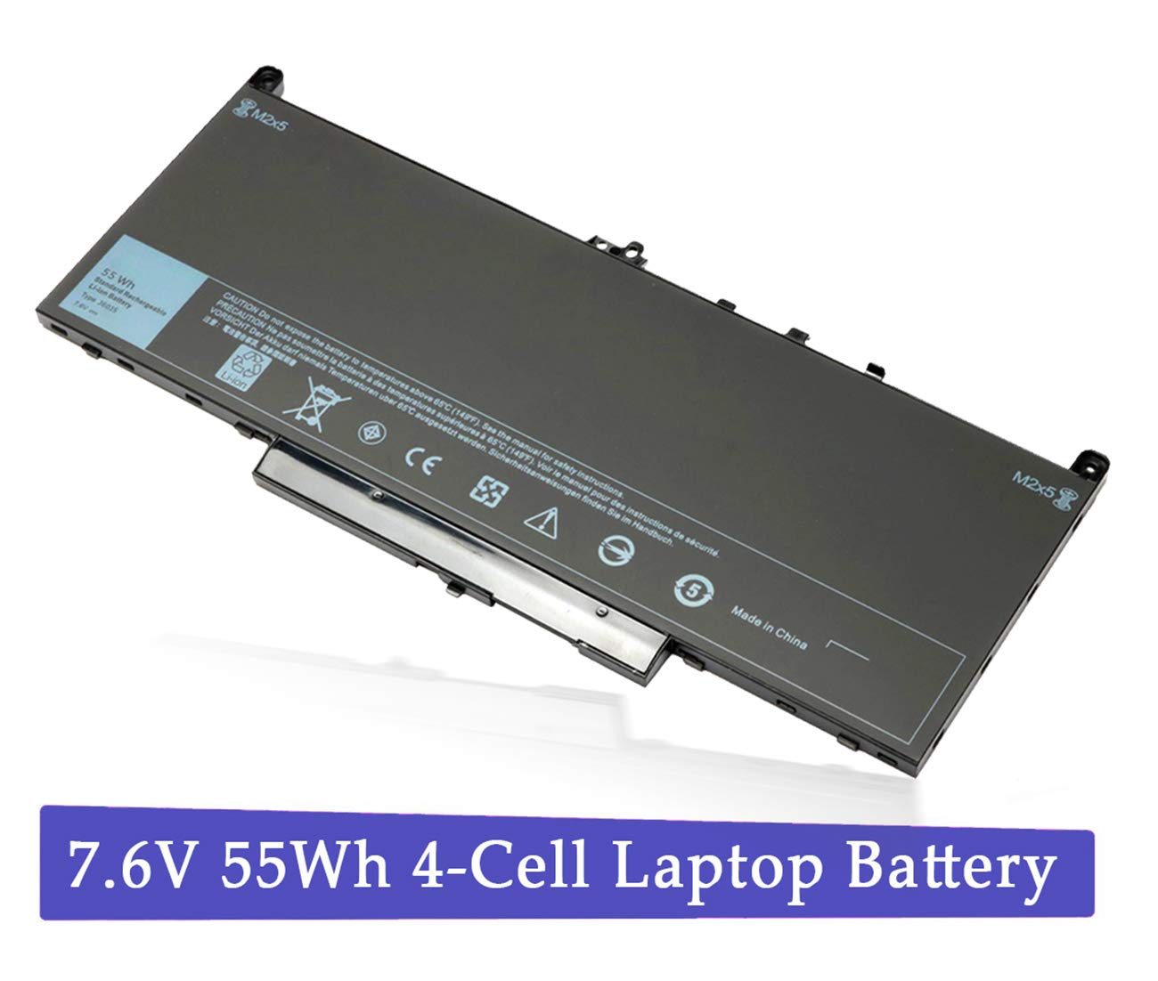 Bateria J60J5 para Dell Latitude E7270 E7470 Series 451-BBSY 451-BBSX 451-BBSU P/N:WYWJ2 MC34Y 0MC34Y 1W2Y2 242WD 7.6V 5
