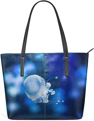 DEZIRO - Bolso de mano para mujer, diseño de medusas: Amazon ...