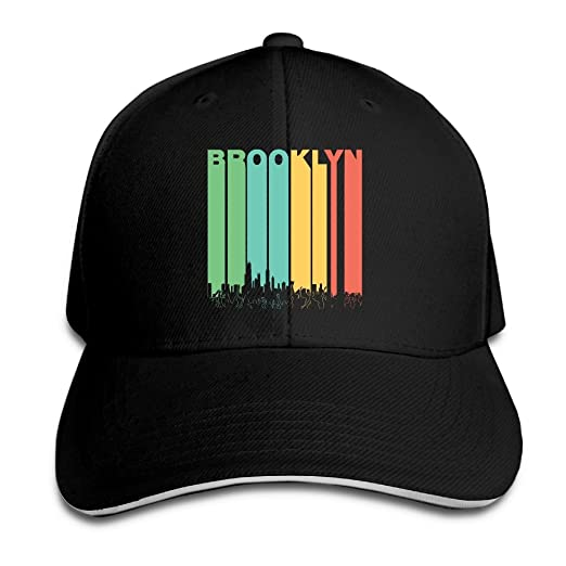 67917342dbf Men   Women Custom Vintage Brooklyn New York Skyline Cityscape Trucker Cap  Plain Adjustable Baseball Cap