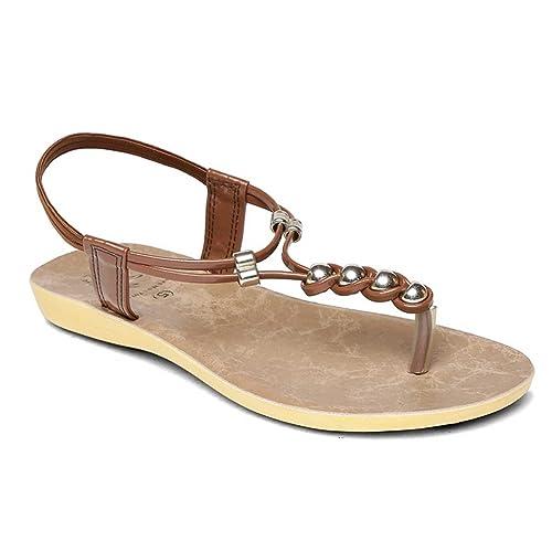 4c9952b73 PARAGON SOLEA Women s Brown Sandals  Buy Online at Low Prices in India -  Amazon.in