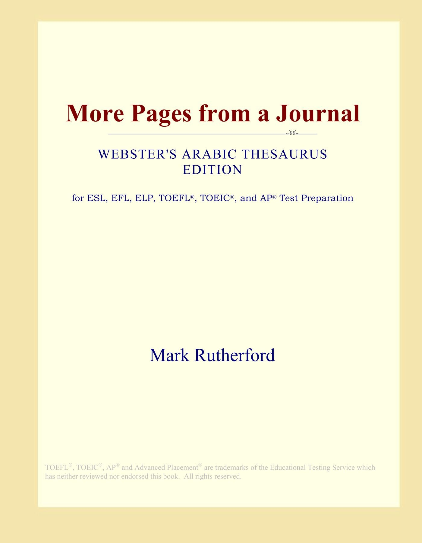 More Pages from a Journal (Webster's Arabic Thesaurus Edition) pdf