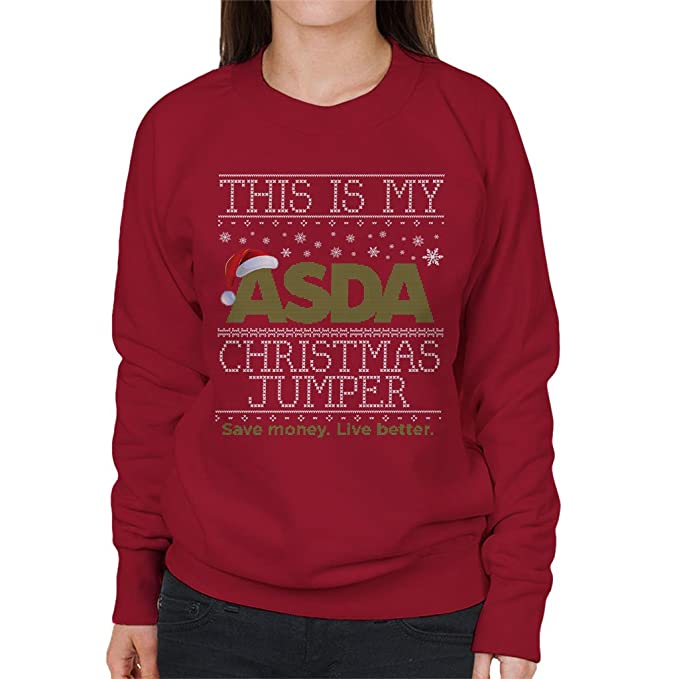 look good shoes sale quality design on feet shots of This Is My Asda Christmas Jumper Save Money Live Better Women's Sweatshirt