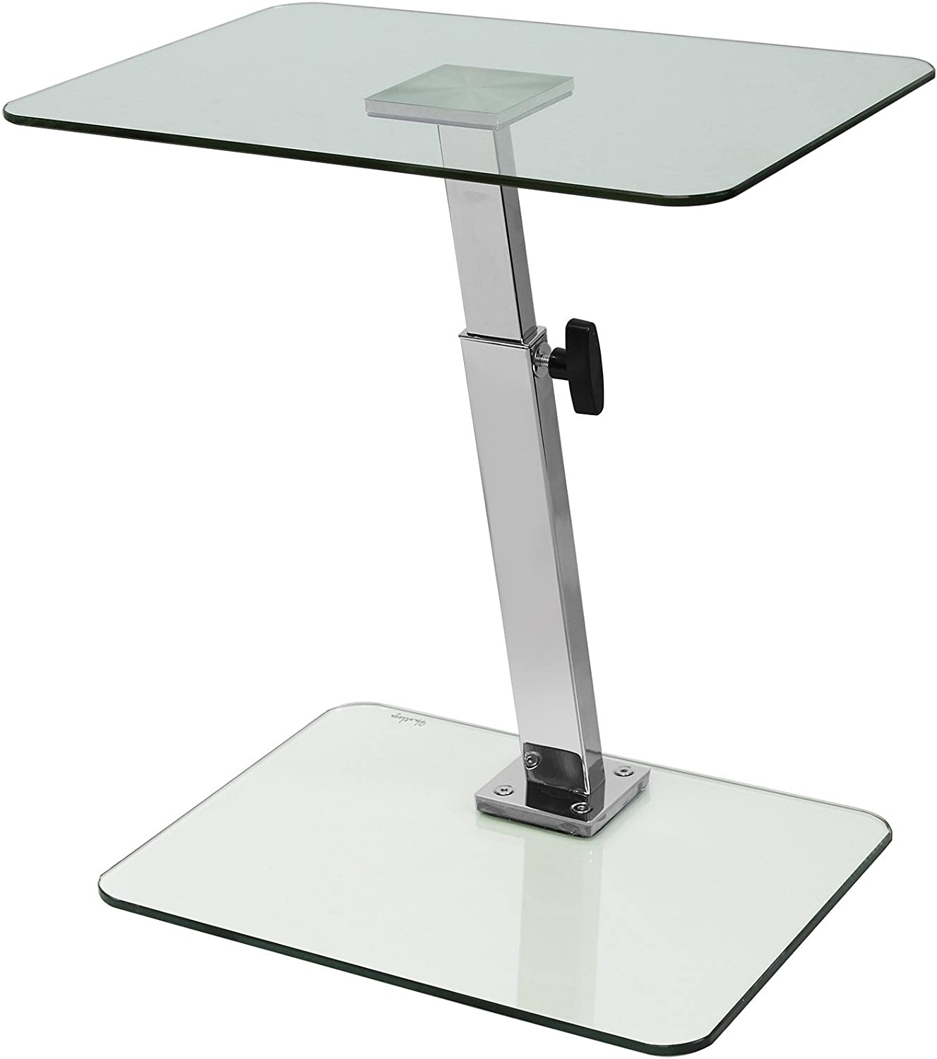 Hartleys Glass Laptop Stand Adjustable Height Clear Amazon Co Uk Kitchen Home