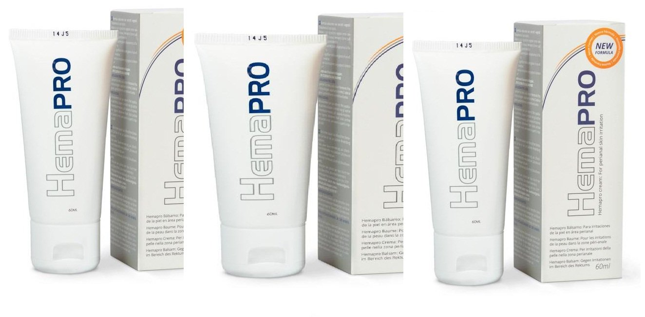 Hemapro Cream for hemorrhoids care (3 packs) 75ml per pack by HerbalXpress LLC