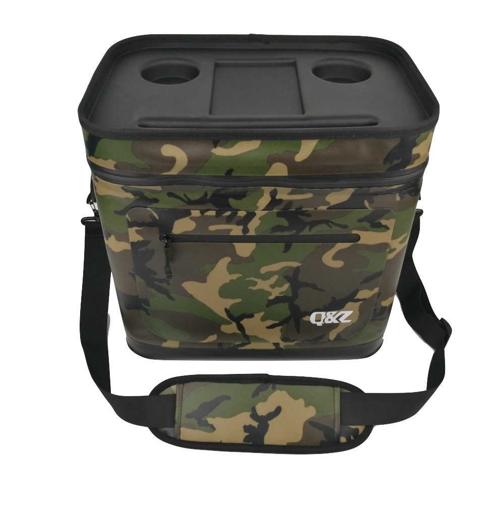 Q&Z 20 Cans Leak-proof Soft Pack Cooler Waterproof Insulated Soft Sided Cooler Bag for Hiking, Camping, Sports, Picnics, Sea Fishing, Road Beach Trip