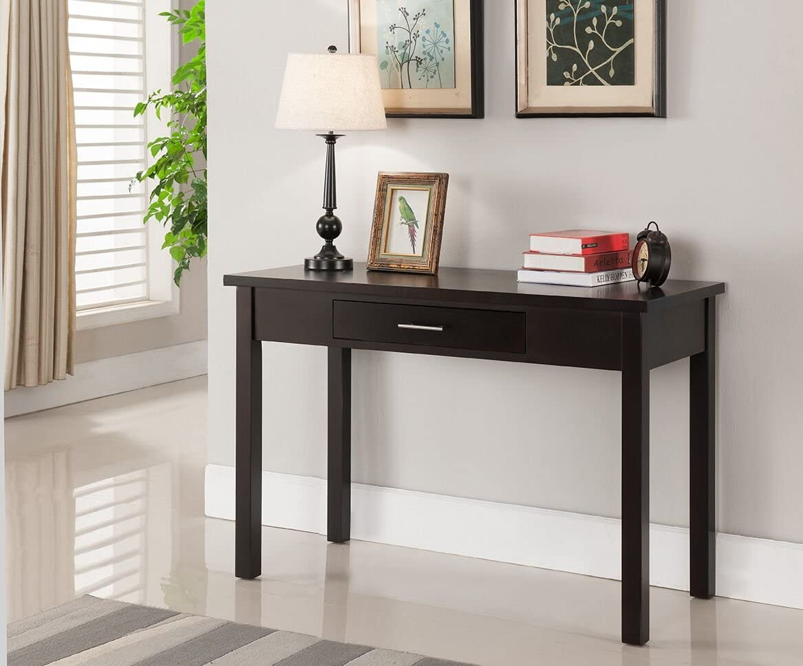 Kings Brand Furniture Wood Home & Office Parsons Desk with Drawer, Espresso