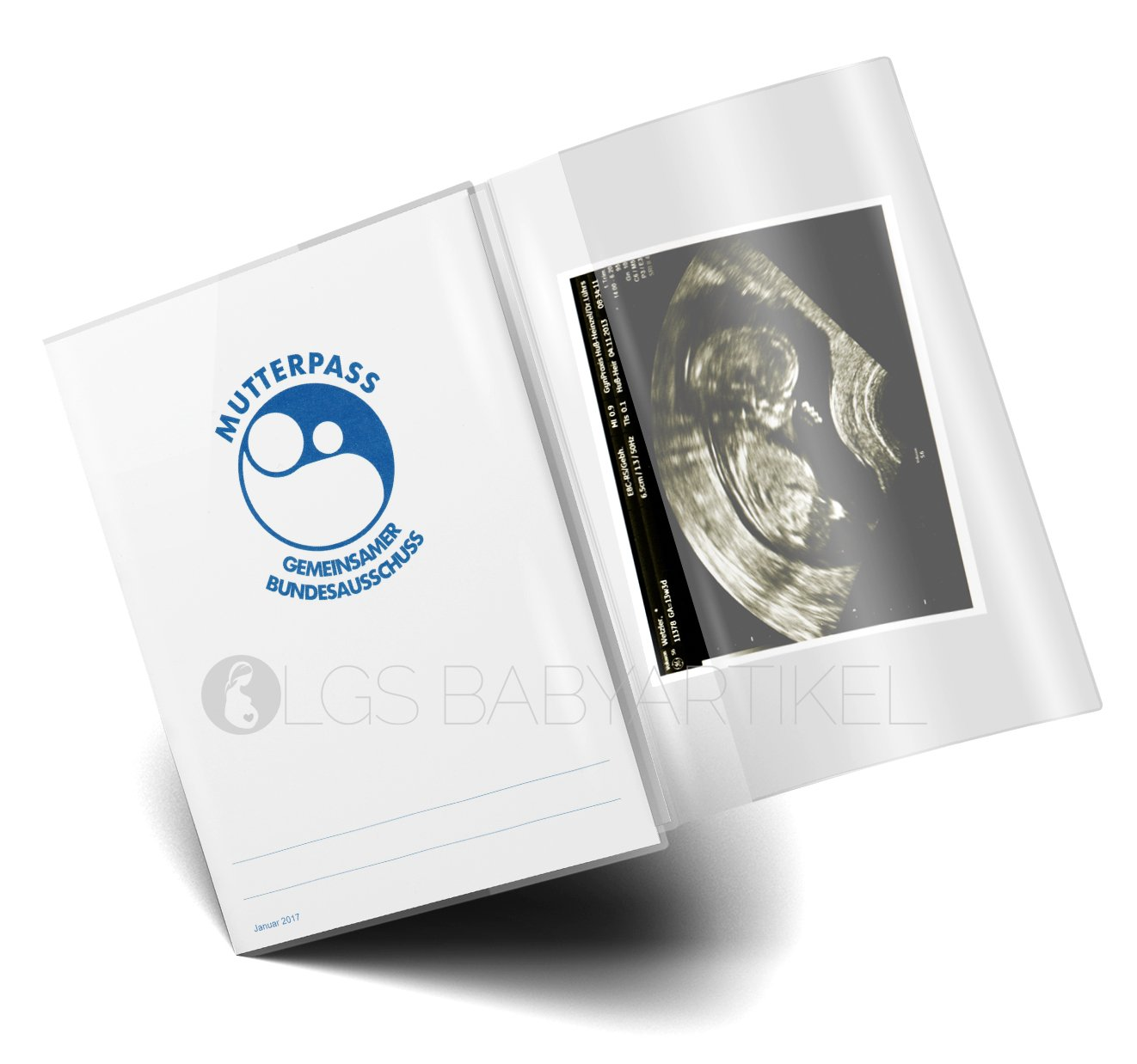 1 St/ück Mutterpassh/ülle 3-teilig transparent Mutterpass Schutzh/ülle Blanco