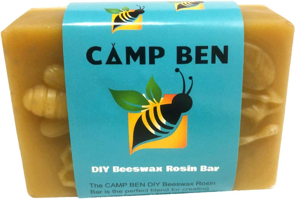 CAMP BEN DIY Beeswax Food Wrap Beez Bar - Do It Yourself Create Your Own Reusable Wraps - Pine Rosin Tree Resin - All Natural Food Safe - DIY Bar Making Cloth Clings - Replace Plastic and Foil Storage