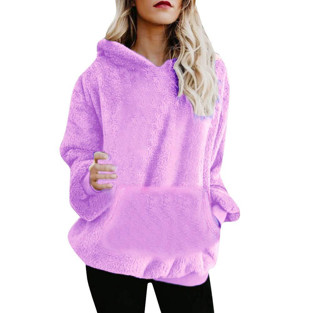 KpopBaby Women Long Sleeve Zipper Sherpa Sweatshirt Soft Fleece Pullover Outwear Coat GR2018666