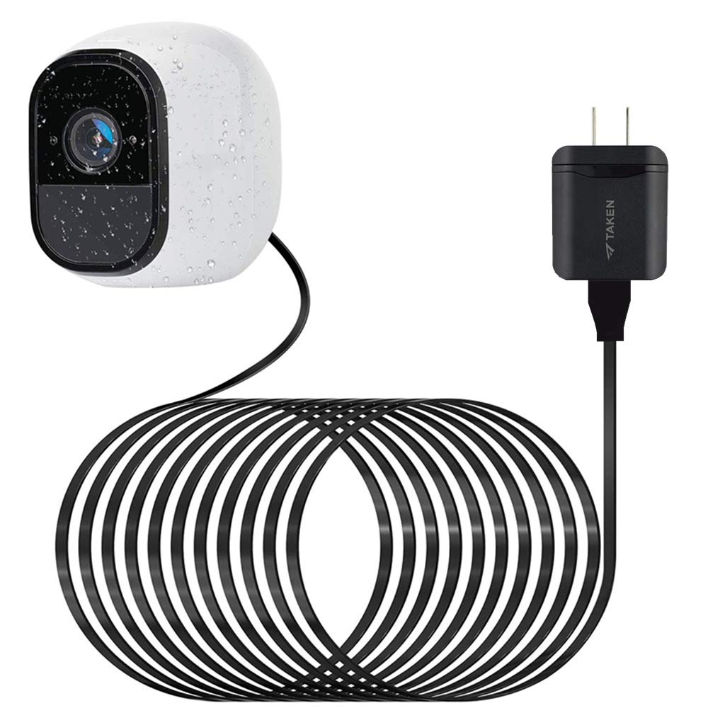 Arlo Pro用防水アウトドア電源ケーブル クイックチャージ3.0電源アダプター 30フィート/9mCharigngケーブル Arlo Pro & Pro 2 Arlo Go、その他のホームカメラ用 (マイクロUSB) 1セット ブラック   B07Q7P7B25