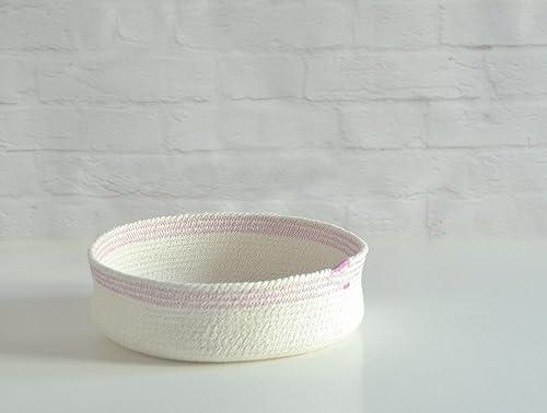 Cuenco de cuerda de algodón blanco y orquídea. ENVÍO GRATIS A ...