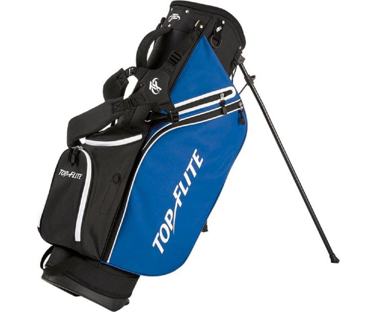Top Flite 2018 Golf Stand Bag Mens Lightweight 8-Way Top - Black/Blue